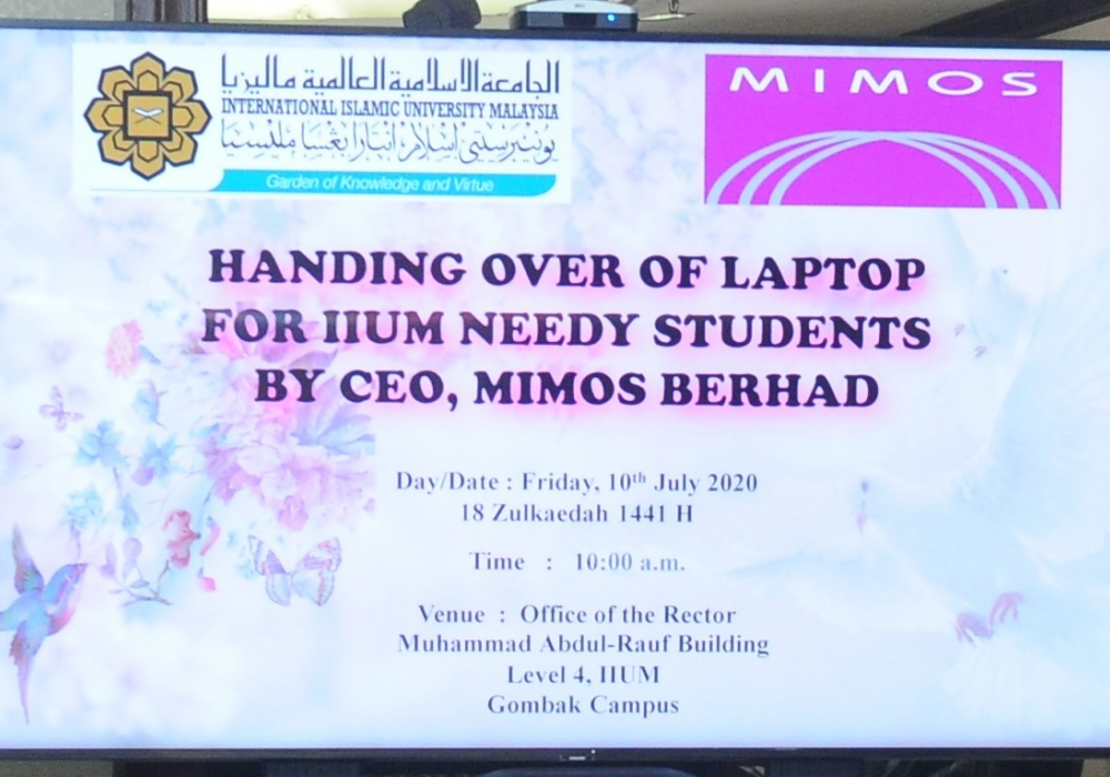 10 July 2020 Handing Over of Laptop for…