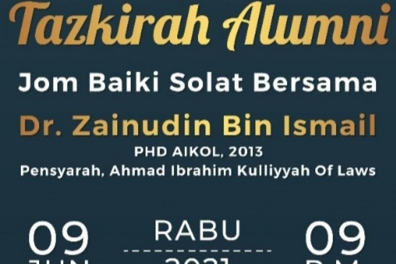 Tazkirah Alumni : Jom Baiki…